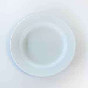 White enamel dinner plate