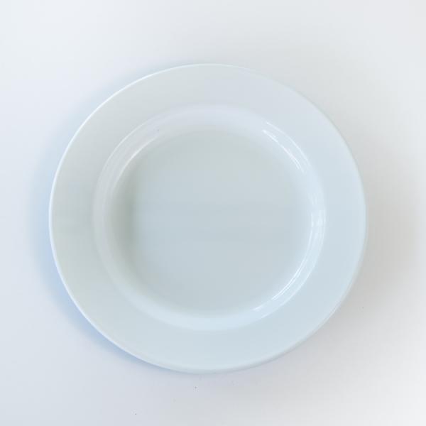White enamel dinner plate