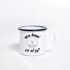Enamel Mug sublimated braai 1