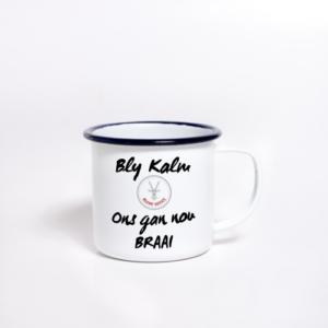 Enamel Mug Sublimated Bly Kalm
