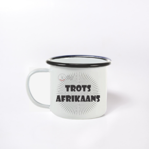Enamel Mug Sublimated Boere Reeks Trots Afrikaans