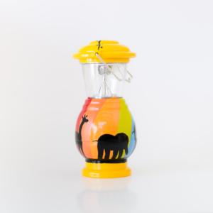 Hand painted lantern elephant giraffe