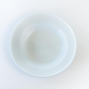 White enamel soup plate