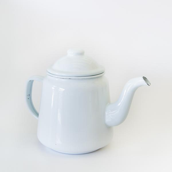Enamel teapot white